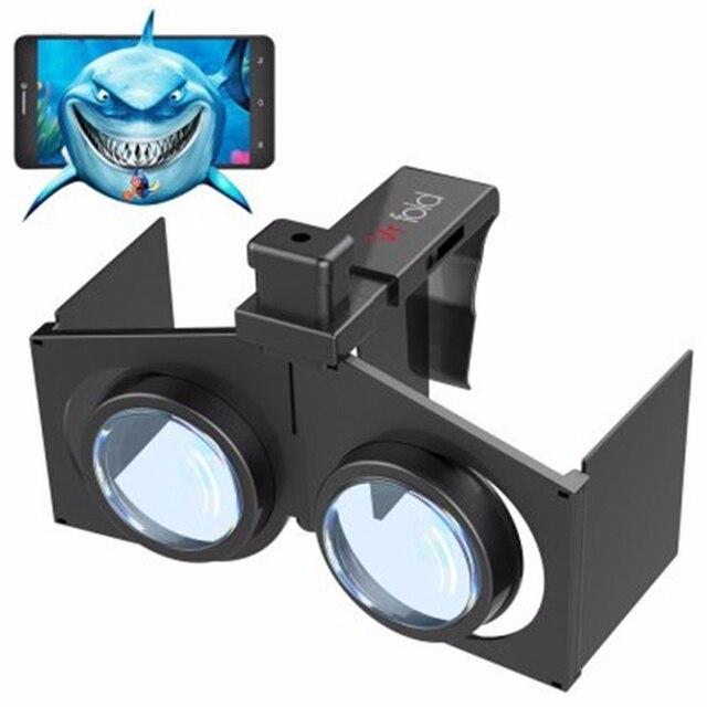 """100 шт./лот VR Раза V1 3D VR КОРОБКА Погружения Очки Google Картон Голову Горе Шлем Видео Телефон Случае Для 4.7-6.0 """"iOS Android"""