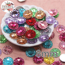 8 10 12mm mix color shiny small round rhinestone Flat back Cabochon Art Supply  Decoration Charm Craft 6360a8e78bf7