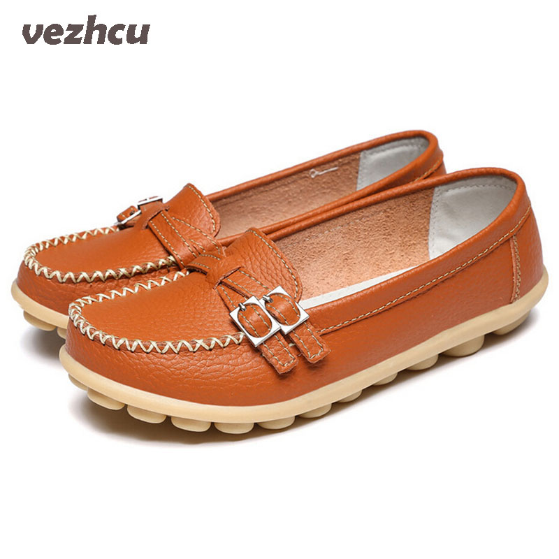 VZEHCU Casual Shoes Woman  Loafers Fashion Women Flats Genuine Leather Candy Colors Slip On Comfortable Flat Shoes Woman  6d51 genuine leather women flats shoes new 2015 slip on woman fashion leather loafers brand designer bow sapato feminino flat shoes