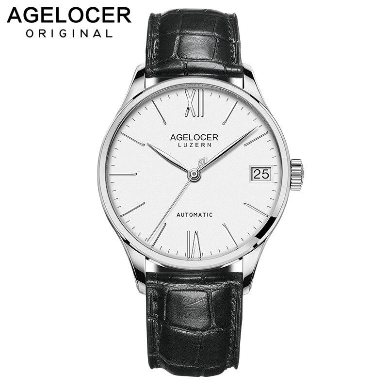 Suisse Top marque AGELOCER hommes montres de mode de luxe montres automatiques hommes d'affaires montres relogio masculino 7071A1