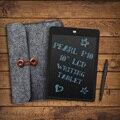 """Parblo Перл P10 10 """"ЖК-Планшет для Записи Блокнот Блокнот Messge Доска с Erazer Кнопка Блокировки Черный + 10.5 дюйм(ов) Шерсть Лайнер Мешок"""