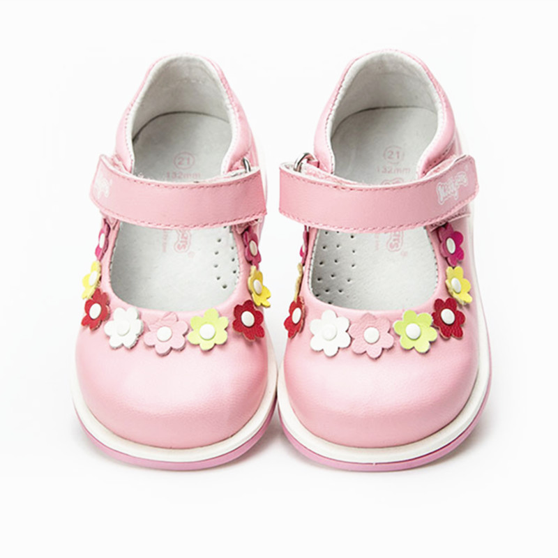 Fashion 1pair Orthopedic shoes Genuine Leather girl sneaker Children, New kids Shoes+inner 13.2-15.9cm