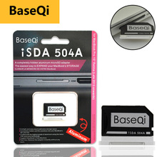 """מקורי BaseQi אלומיניום MiniDrive מיקרו SD כרטיס מתאם CardReader Ninja התגנבות כונן עבור Macbook Pro רשתית 15 """"זיכרון כרטיס"""