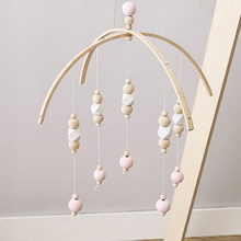 Baby Toys Wooden Beads Rattles Kids Bed Bell Mobile For Crib Toys For Baby Wind Chimes Bell Room Bed Hanging Decoration Gifts(China)