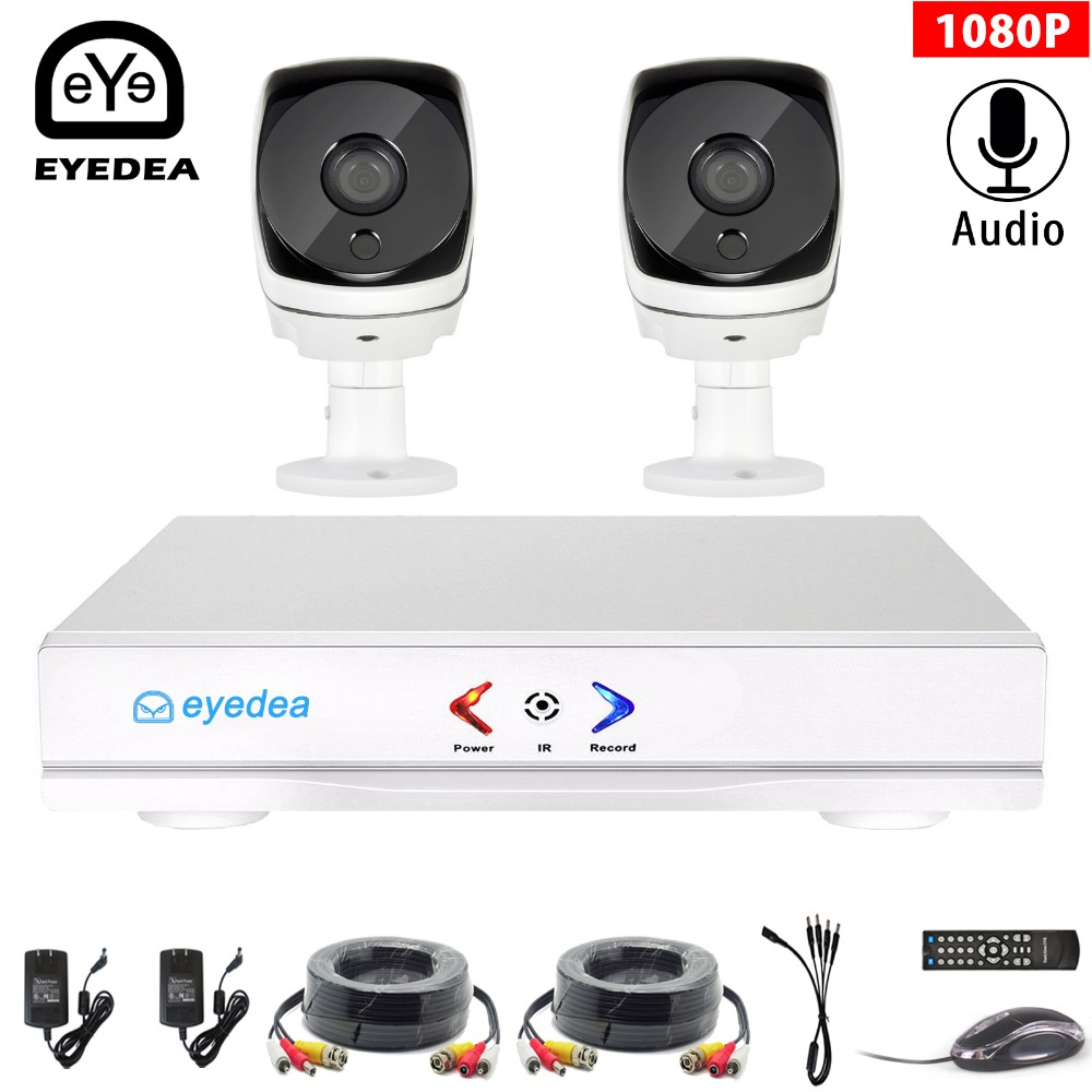 Eyedea 4CH 1080N HDMI DVR 5500TVL 1080P HD Indoor Audio CCTV Security Camera System 4 Channel Video Surveillance AHD Kit