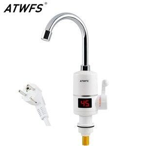 Image 1 - ATWFS anında sıcak SU ISITICI dokunun hızlı anlık termostat SU ISITICI 3000w elektrikli musluk sıcaklık göstergesi