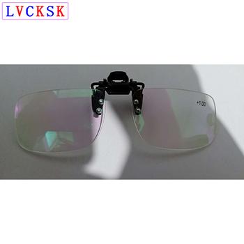 Unisex Clip On Reading lupa do okularów kobiety mężczyźni Rimless Presbyopia okulary klipy obiektyw + 1 0 + 1 5 + 2 0 + 2 5 + 3 0 + 3 5 B3 tanie i dobre opinie LVCKSK WOMEN Jasne Okulary do czytania Lustro Poliwęglan JY4660 Stop China Unisex Women Men +1 0 +1 5 +2 0 +2 5 +3 0 +3 5