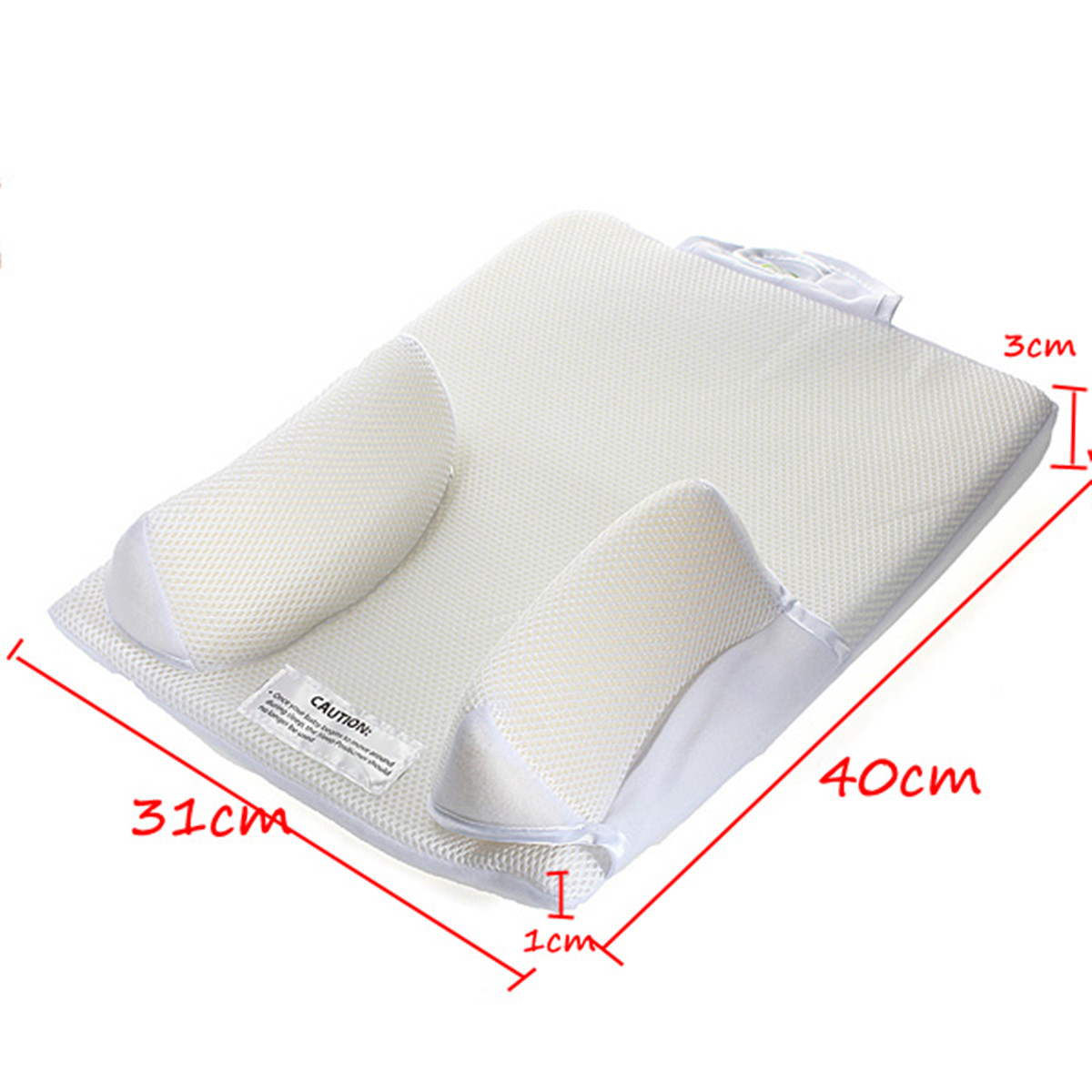 baby care infant anti roll pillow with ultimate fixed vent and sleep positioner to prevent flat head