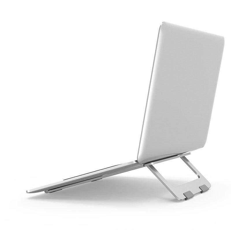 Soporte plegable para ordenador portátil de aluminio ajustable soporte para tableta de escritorio soporte para teléfono móvil para iPad Macbook Pro Air Notebook