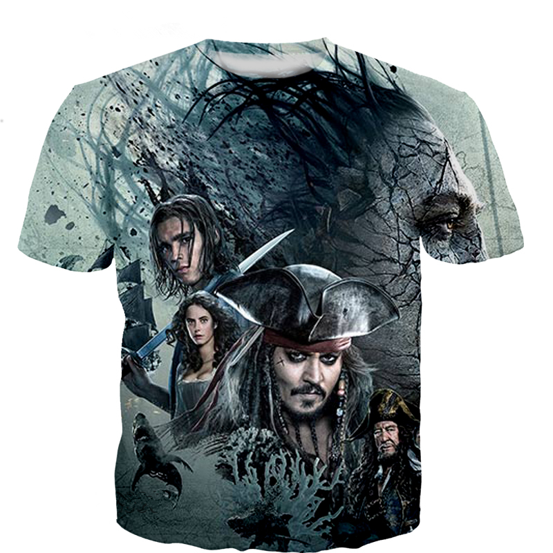 New Pirates Of The Caribbean T Shirts Printed 3d Womens Mens T-Shirts Casual Hip Hop Unisex Tees Tops Plus size S-5XL