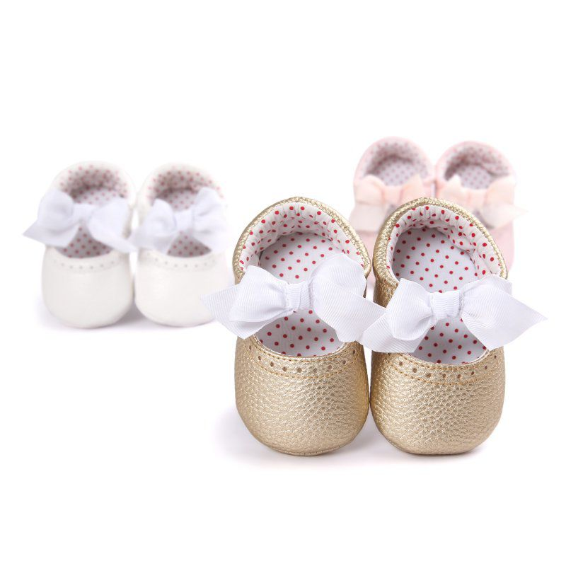 Newborn Cute Baby Moccasin Babies Shoes Soft Bottom PU Leather Infant First Walkers Toddler 0-18M