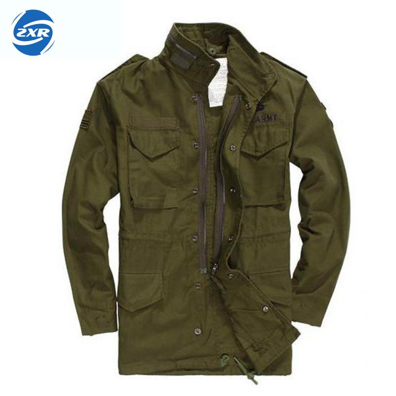 Military Army Fans Jacket Airborne Division Charge Men Jacket Winter Coat Long Windbreaker Green Tactical Jacket Hiking Jacket