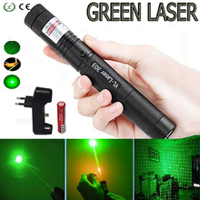 Green Laser Pointer Hunting 532 nm 5mW Tactical sight Powerful Dot laser 303 pointer verde lazer Pen Burning Match