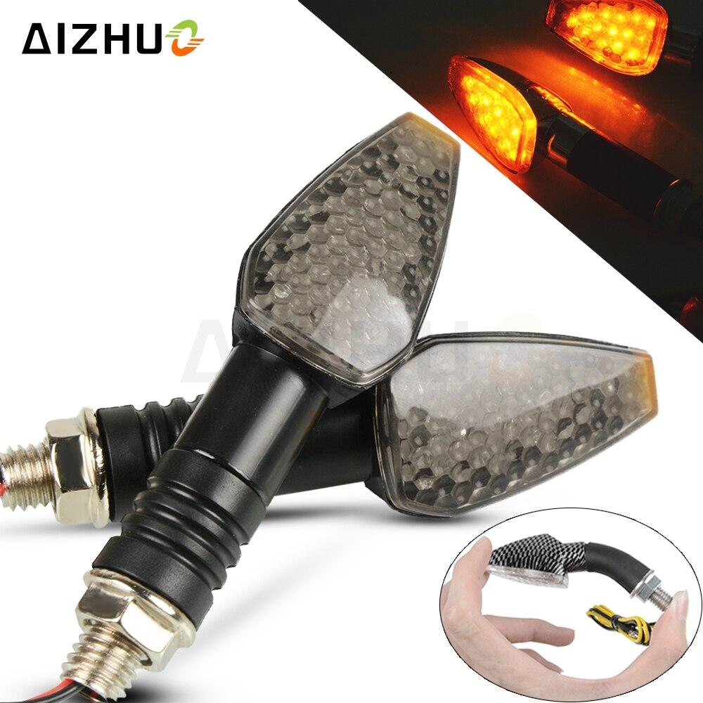 Motorcycle Turn Signal Light 12V LED Indicators Blinker Lamp For HONDA CB500F CBF 600 CBR 650F HORNET 900 AFRICA TWIN CRF1000L