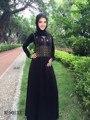 Moda msulim vestido largo islámico de dubai abaya de la manera mujeres del diseño de vestido largo