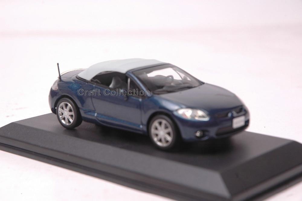 Dark Blue 1:43 Mitsubishi Eclipse Spyder Cabrio Convertible Alloy Model Diecast Show Car Replica Metal Miniature Auto Modell