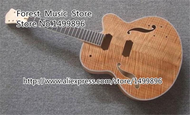 Top vente chinois inachevé 7 cordes Kits de guitare électrique et corps gaucher personnalisé disponible en Stock