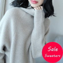 Women Sweater 100% Cashmere and Wool Knitting Jumpers Woman Winter Turtleneck Fashion Warm Pullovers Hot Sale Woman Knitwear Top(China)