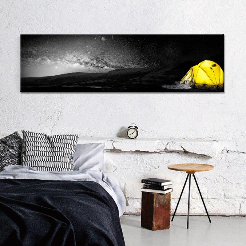 Nordique jaune noir blanc paysage toile peinture affiche et imprime décor de mode HD mur photos pour salon chambre