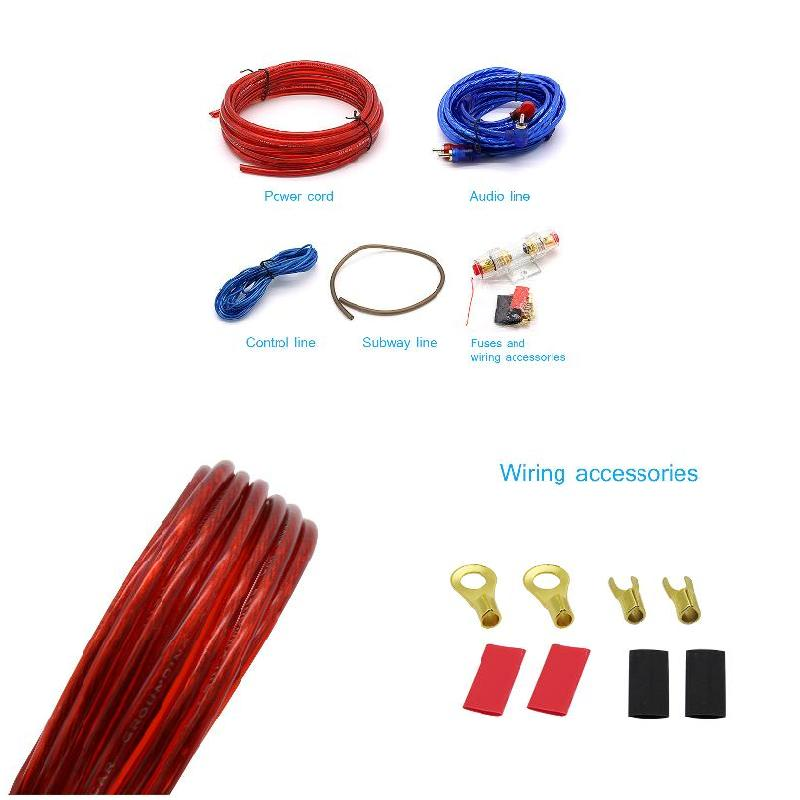 1 set Car Electronics Accessori Auto Audio Subwoofer Amplificatore Wiring Fuse Holder Wire Kit Cavi CSL2017