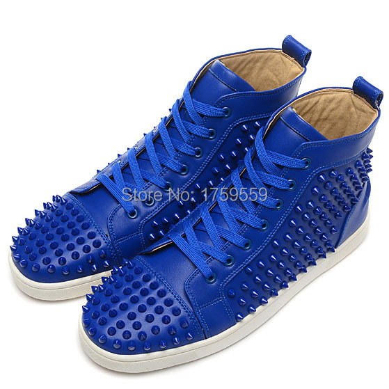 1078cf0ebecb 2015 red bottom sneakers flat men shoes red bottoms for men high top men  sneakers blue