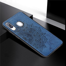 For Samsung Galaxy A40 Cover Case 3D Luxury Cloth Fabric Phone
