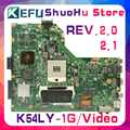 KEFU K54LY fit For ASUS K54LY K54HR X54H X54HR REV.2.0/2.1 1GB Video laptop motherboard tested 100% work original mainboard
