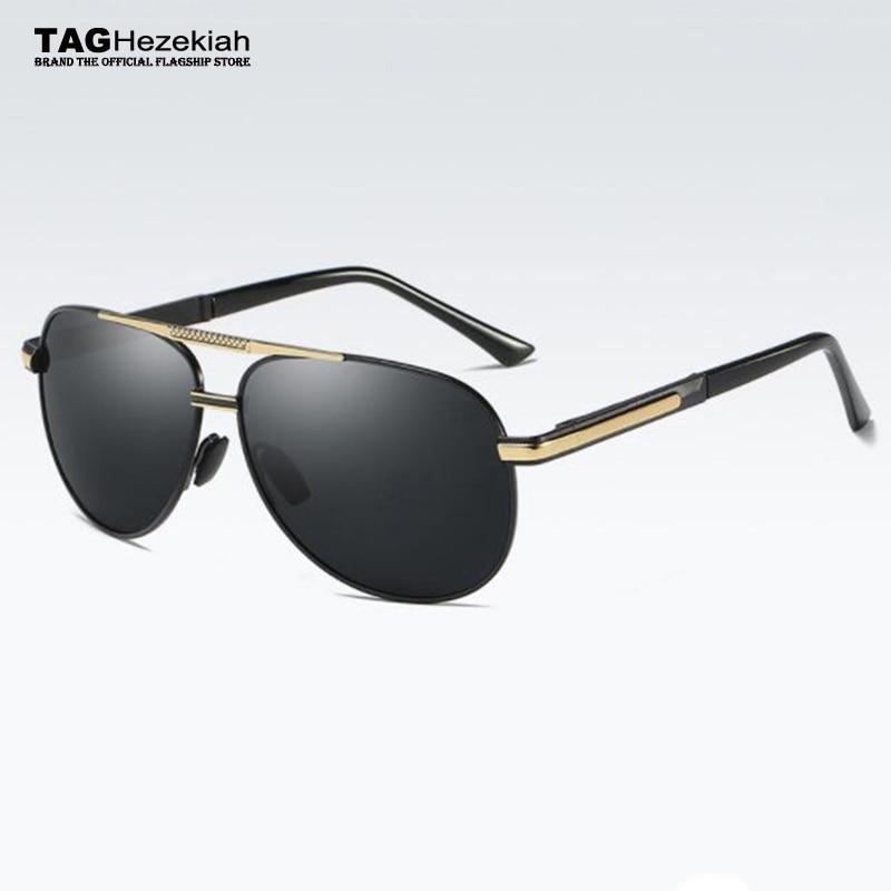 Очки солнцезащитные унисекс поляризационные в стиле ретро с защитой UV400