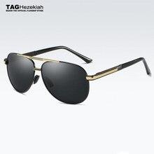 TAG ezechiasz spolaryzowane okulary kobiety mężczyźni 2018 vintage marka projektant mody Retro kierowcy jazdy UV400 metal