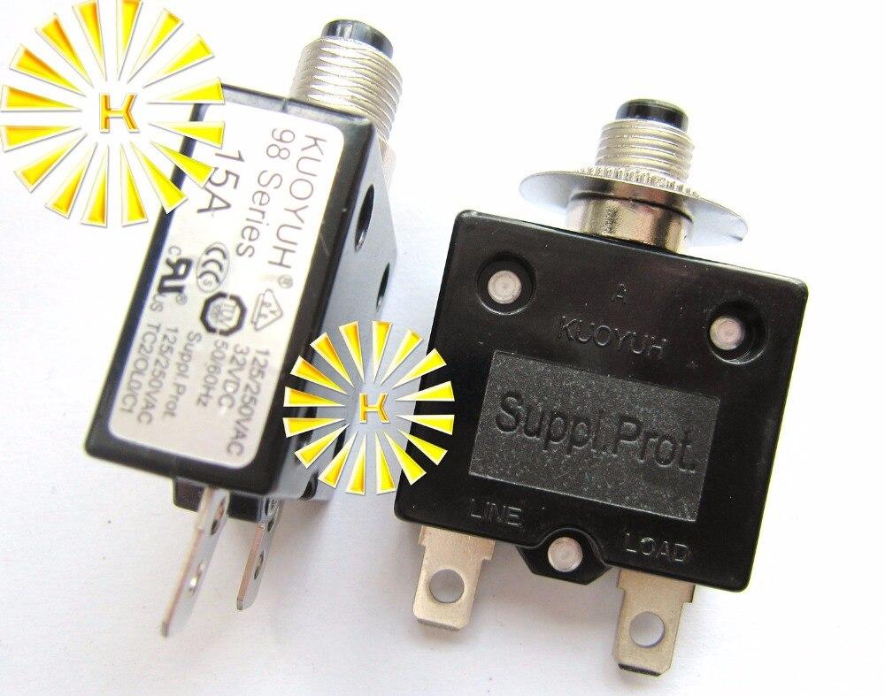 19 Amp KUOYUH Circuit Breaker 88 series 125//250VAC 50//60Hz – 1pc