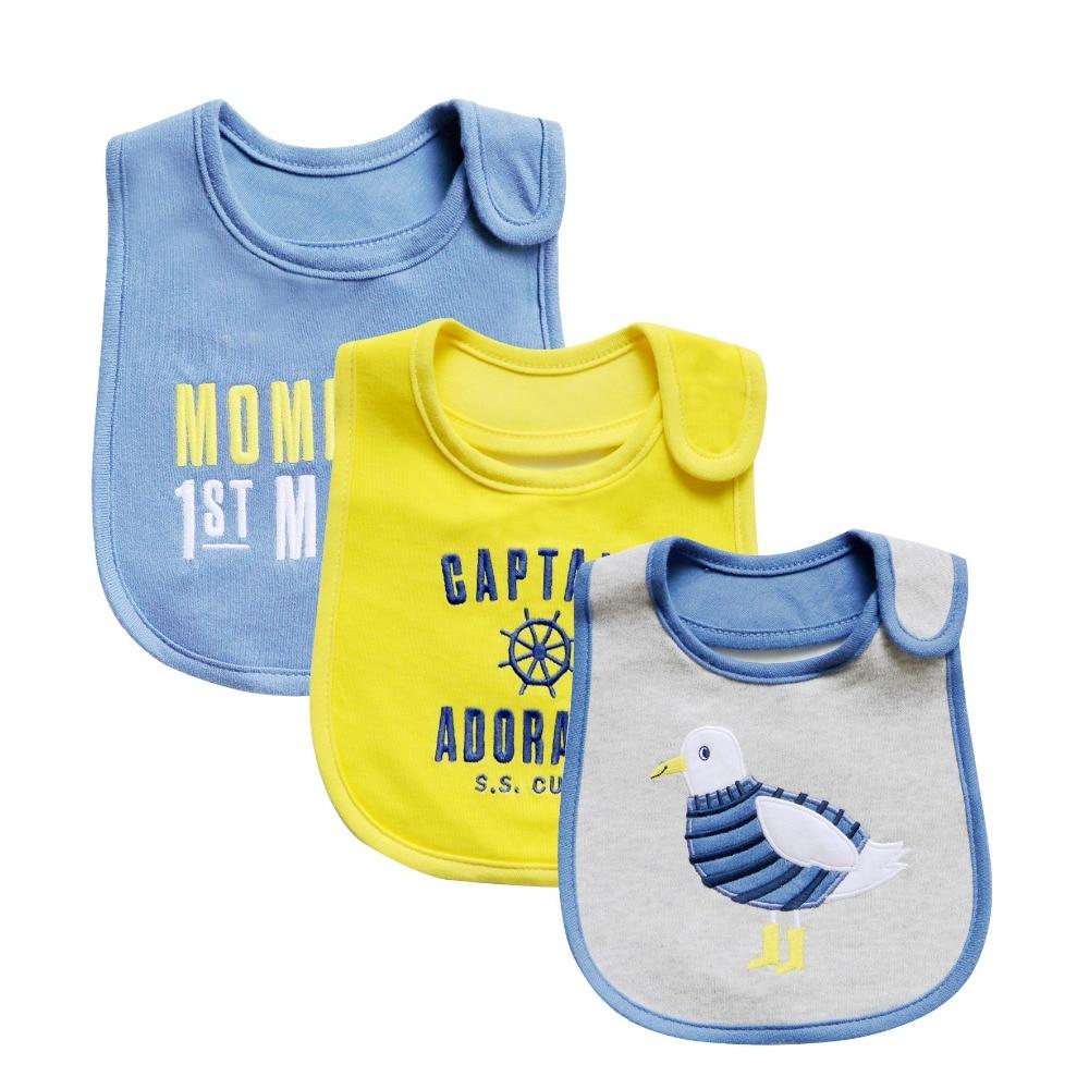 Tender Babies 3 Piece bavoir bandana Quality Baby Boy Girl Bib Towel Saliva Waterproof Kids Cartoon Pattern Clothes saliva bib арахис saliva baby 350g