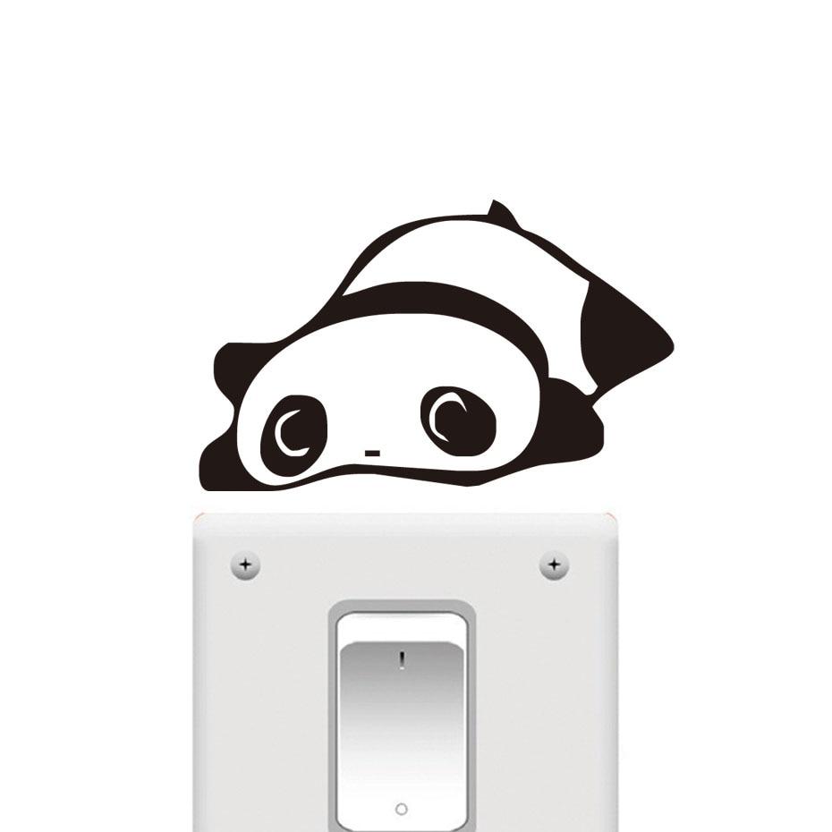online get cheap panda bathroom decor aliexpress com alibaba group dctop funny diy black panda switch stickers cartoon waterproof wall art decal vinyl stickers bathroom bedroom