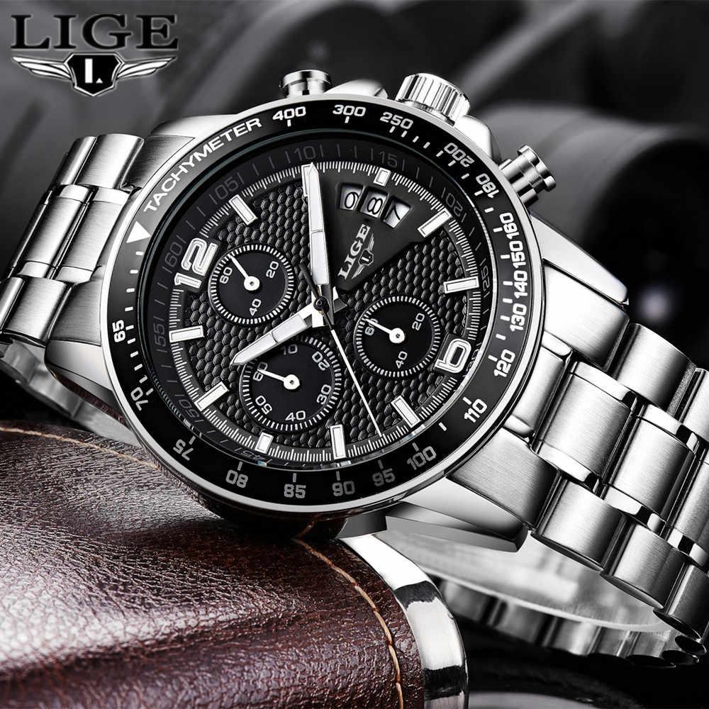 2020 LIGE แบรนด์นาฬิกาผู้ชายใหม่นาฬิกาธุรกิจ Quartz นาฬิกาผู้ชายจริงสามสายกันน้ำ 30M กีฬากลางแจ้งนาฬิกา