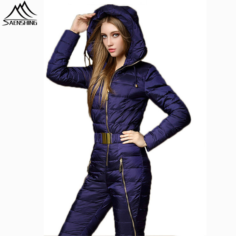 SAENSHING One Piece Ski Suit Women Winter Snow Down Jacket Thermal Windproof Mountain Skiing Jumpsuit Tracksuit Snowboard Coat brand winter ski suit for women thermal