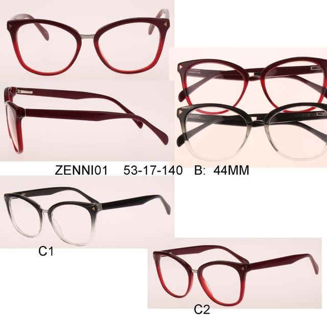 2017 New Arrival top venda mulheres óculos olho de gato pontos flexíveis óculos espetáculo frame ótico óculos de computador marcas ea7