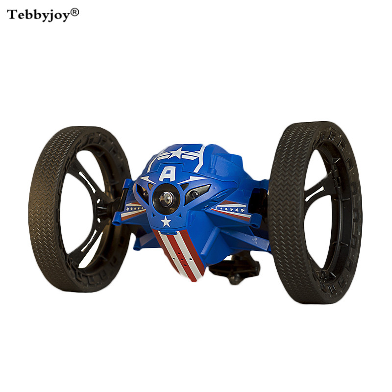 2017 RC Car Bounce Car 4CH 2.4GHz Jumping Car With Flexible Wheels Remote Control Toy RC Robot Car Toys For Children Kids Gift