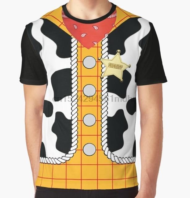 bebc496e All Over Print T-Shirt Men Funy tshirt Toy Story Woody Short Sleeve O-Neck  Graphic Tops Tee women t shirt