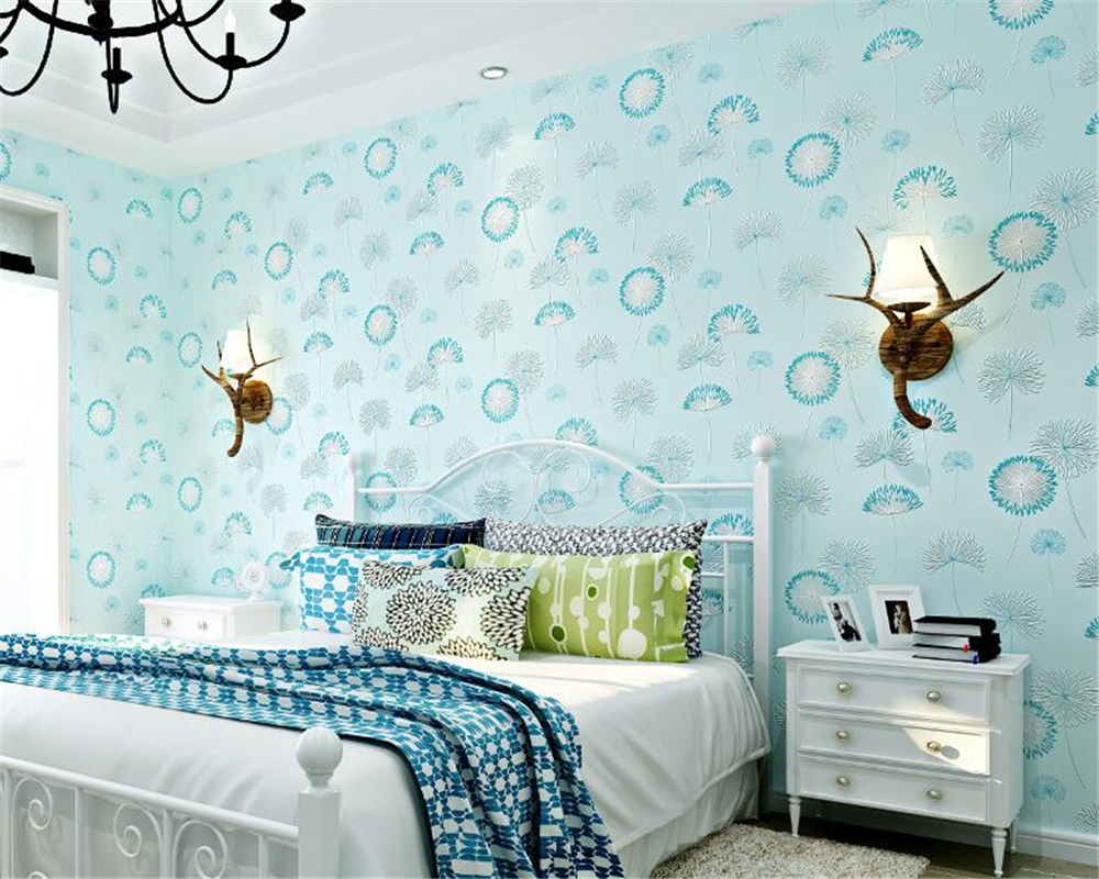 beibehang Modern Simple Nonwovens Wallpaper TV Background Wall Pastoral Warmer Bedroom papel de parede 3d Wallpaper wall paper beibehang nonwovens healthy fashion