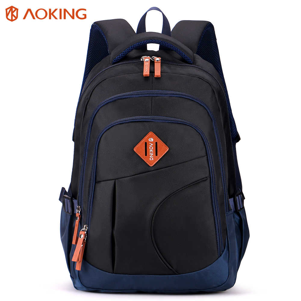Aoking Original Brand Daily Light Comfort Convenient Backpack Man Woman Simple Design Travel bags Three Layers School Backpack