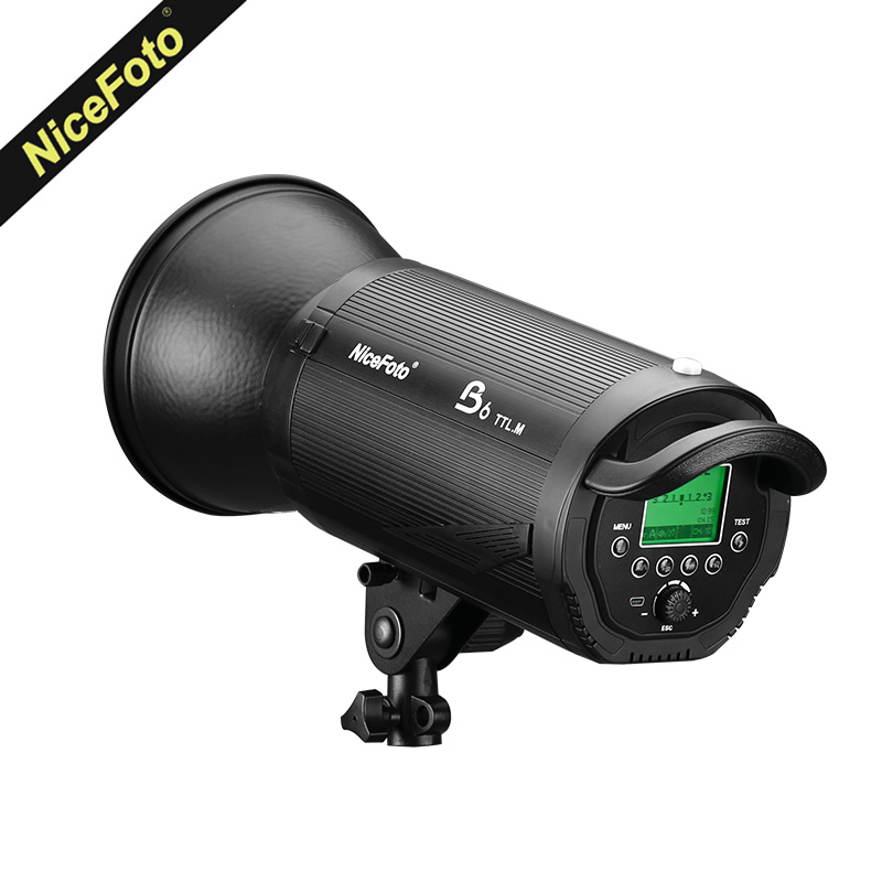New NiceFoto B6 600Ws TTL HSS 1/20000S 2.4G Wireless Battery Powered Flash With TX-C02 for Canon Nikon DSLR Cameras ws 641 1 статуэтка александр македонский 1221114