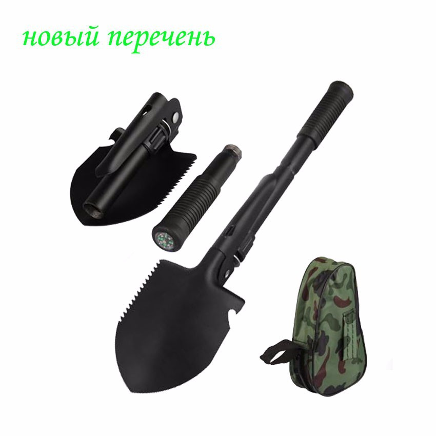 цены New Garden Tools of Mini-Military Portable Folding Shovel Survival Spade Emergency Trowel Garden Camping Cleaning Tool