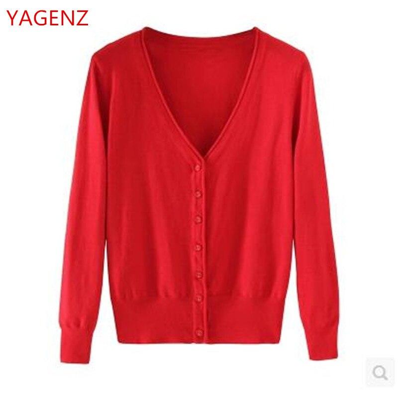 YAGENZ Short Sweater Fashion Coat Knitting Cardigan Young Thin BN2136 New100%Autumn-Dress