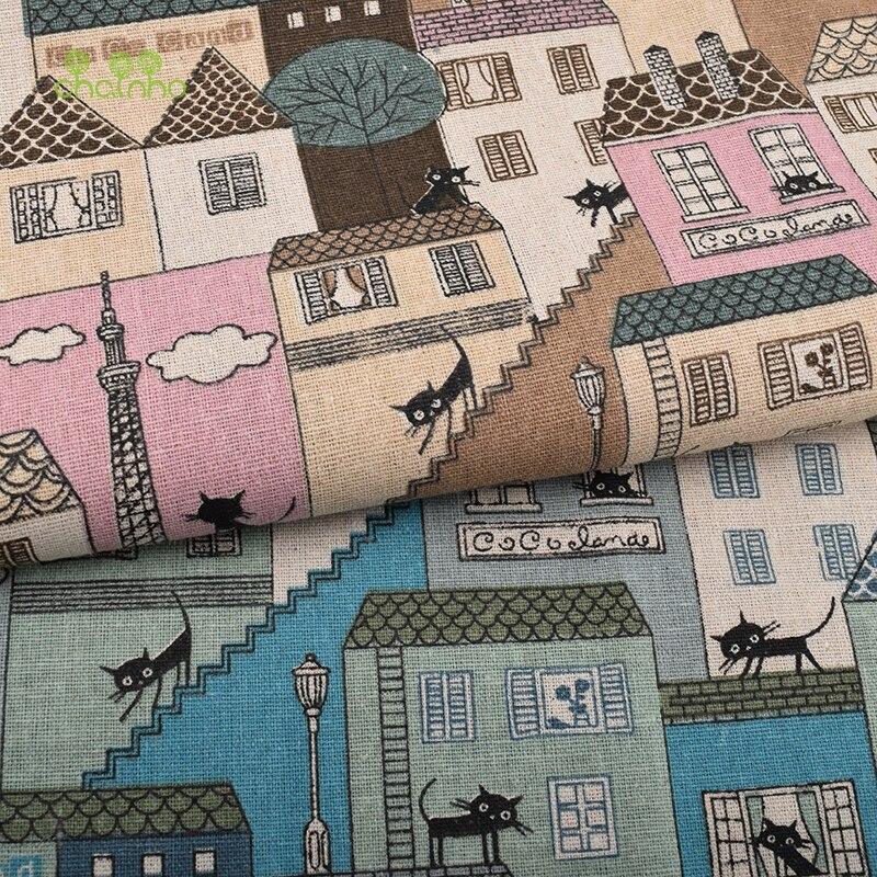 Gedruckt Baumwollleinengewebe Für Patchwork Quilting Sewing DIY Sofa Tischdecke Möbel Deckel Tissue Vorhang Tasche Kissen Stoff