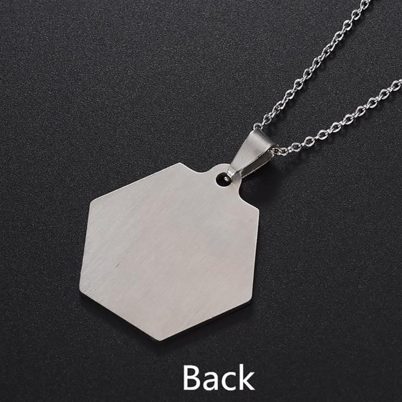 Duoying Custom Stainless Steel Free Engraving Name Number Medical Alert ID Necklace Dog Tag Personal Name Jewelry for ETSY