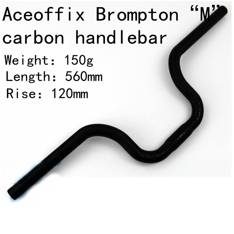 150g Aceoffix Carbon Fiber Bicycle Handlebar M Model UD Matte MTB Carbon Handlebar 500 560mm For Brompton Bridy Parts-in Bicycle Handlebar from Sports & Entertainment    1