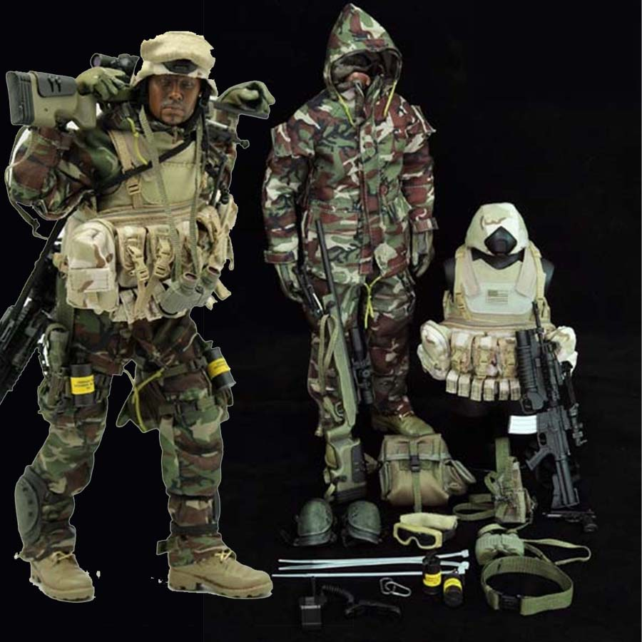 Mnotht 1/6 Solider Camouflage suit U.S. special forces Jungle sniper model Suit Set Clothes For 12in Action Figures Toys  l30 mnotht toy 1 6 wwii solider model wrath of brad pitt head carved military figures tanks suit clothes l30