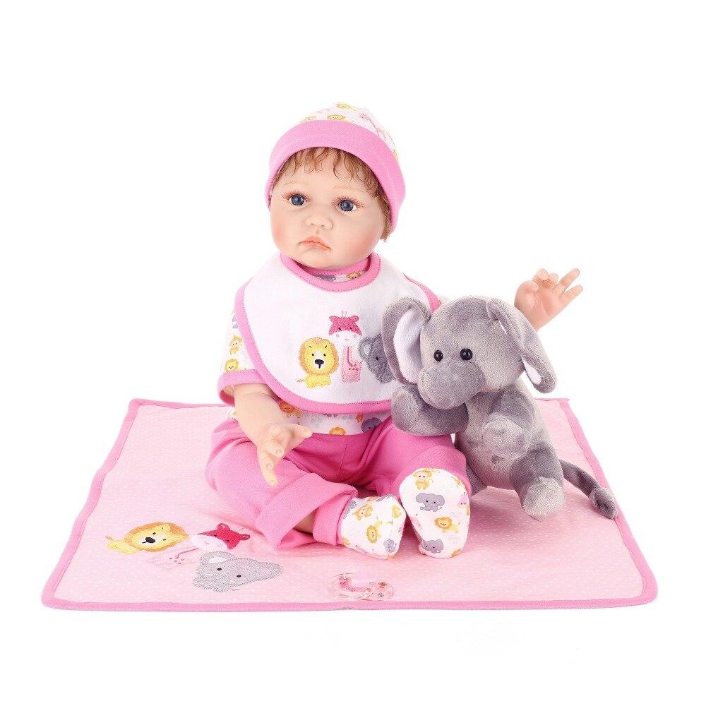 NPK Bambino Appena Nato Morbido Vinile Del Silicone Realistico Bambini Reborn Bambole 55 centimetri Realistica bebe Regali Di Natale Giocattoli Per Menina-in Bambole da Giocattoli e hobby su  Gruppo 1