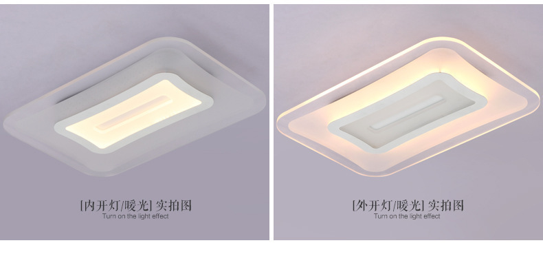 Modern Acrylic LED Ceiling Light Ultra Thin Square Ceiling Lamp Living Room Lights Ceiling Mounted Fixture