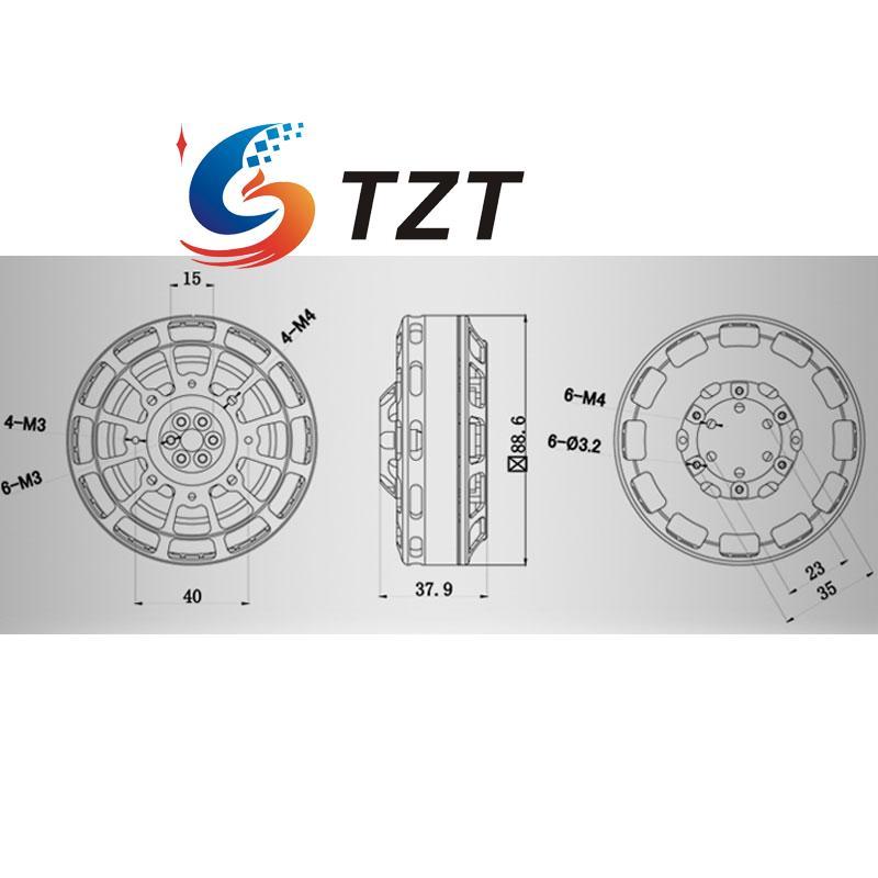 Tarot TL81P10 8110 140KV Multiaxial Brushless Motors 36N40P Multi Motor for Propeller Drone Quadcopter