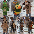 Милый плюшевых животных школа для детей сумка мужчин-девушка плюшевые игрушки мешок зверек ребенок мультфильм рюкзак